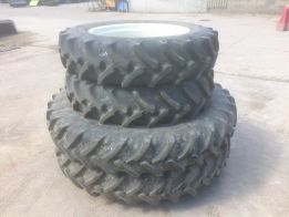 Complete set of Row Crop Wheels and Tyres
